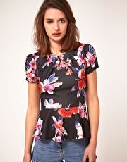 love this floral peplum blouse!