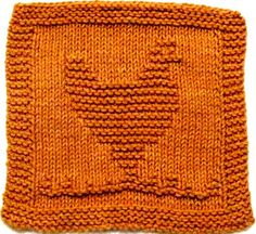 Pattern includes easy to follow instructions. Materials Needed: Straight knitting needles, size US 7 (4.5mm) 100% Cotton Medium/Worsted Weight yarn [60 yards] In any color you choose. Stitches: knit & purl. Skill: Beginner Finished Size: 7W X 7 1/4 H(18cn X 18.5 cm) Darning needle for