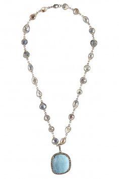 Chalcedony Pendant Necklace   | Calypso St. Barth