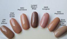 Dark nude nail polish