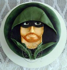 bolo-decorado-arqueiro-verde,bolo-decorado-arrow