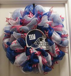 New York Giants Wreath by DesignsByNelmarie on Etsy