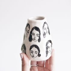Porcelain Girl Bud Vase by Leah Reena Goren