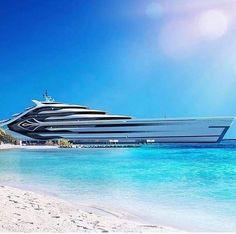 Super Yachts, Big Yachts, Yacht Design, Boat Design, Restaurant Hotel, Yatch Boat, Private Yacht, Yacht Interior, Motor Yacht