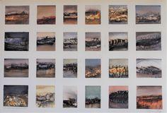 Mineature akvareller - ark med 24 små akvareller