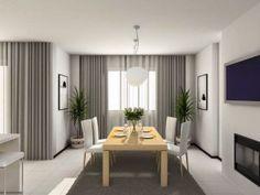 decoracion salones gris y blanco cortinas diseño - copia