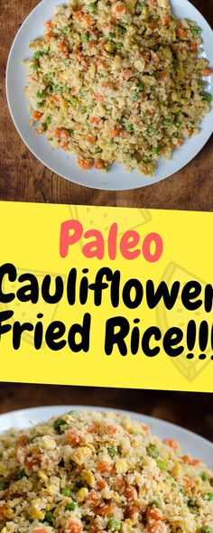 This Paleo Cauliflower Fried Rice is a delicious alternative to the popular take-out dish. gluten free, dairy free, and so amazing… Ingredients 1 large onion diced 1 cup carrots … Paleo Cauliflower Fried Rice, Paleo Rice, Vegan Fried Rice, Cauliflower Recipes, Paleo Recipes, Cooking Recipes, Shrimp And Rice Recipes, Arroz Frito, Dieta Paleo