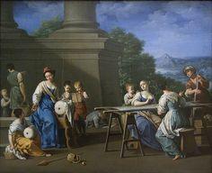 "Giuseppe Gambarini · ""Women Embroidering"" (1700)"