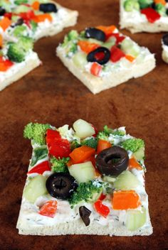 Veggie Pizza Appetizer | The Merrythought