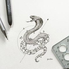 Snake | Geometric Beasts | Kerby Rosanes