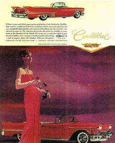 Directory Index: Cadillac & Cars Usa, Us Cars, Classic Motors, Classic Cars, Vintage Advertisements, Vintage Ads, Cadillac, Car Advertising, Old Ads