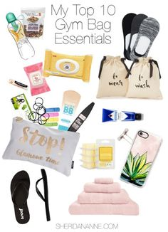 My Top 10 Gym Bag Essentials | http://sheridananne.com #gym #organised #workout #exercise
