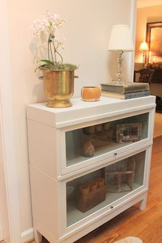 Amazing barrister bookshelf makeover
