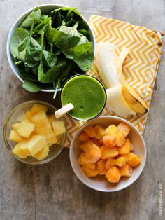 Tropical Green Smoothie | The Little Epicurean
