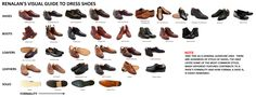 VERY helpful visual guide to dress shoes