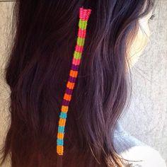 #HairTapestry seen on @minkee78 #bumbleandbumble #hair #embroidery #artsandcrafts #stripes #weaving