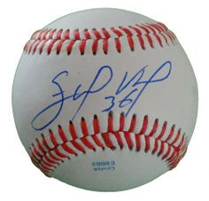 Edinson Volquez Autographed ROLB Baseball, San Diego Padres, Cincinnati Reds, Proof Photo by Southwestconnection-Memorabilia. $39.99. This is a Edinson Volquez autographed Rawlings official league baseball. Edinson signed the ball in blue ballpoint pen. Check out the photo of Edinson signing for us. Proof photo is included for free with purchase. Please click on images to enlarge. 1