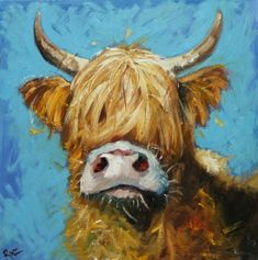 Obsession: Cow Paintings or Moodern Art?musebootsi: Obsession: Cow Paintings or Moodern Art? Cow Painting, Painting & Drawing, Animal Paintings, Animal Drawings, Acrylic Paintings, Cow Pictures, Farm Art, Cow Art, Tier Fotos