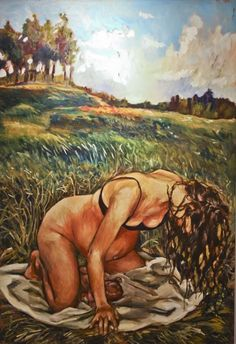 From the Birth Project by Amanda Greavette. beautiful paintings of women during and after birth, shows true emotions. women know how to birth, intuition Doula, Caricatures, Birth Art, Pregnancy Art, Wicca, Water Birth, Peaceful Parenting, Midwifery, Baby Wearing