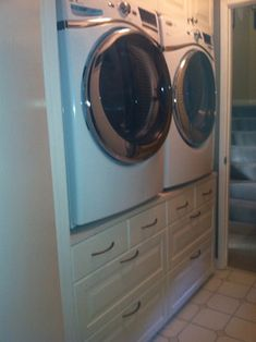 Washer/Dryer Stand traditional laundry room