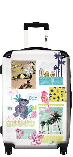 Suitcase Lulu Castagnette tropical day