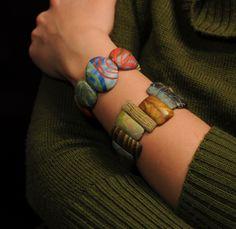 Big bead cuffs