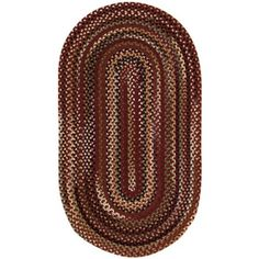 Murray Hill Braided Oval Area Rug, Red