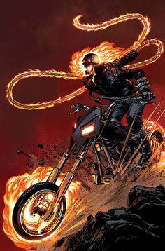 Ghost Rider, Spirit of Vengeance Marvel Comic Character, Comic Book Characters, Comic Book Heroes, Marvel Characters, Comic Books Art, Comic Art, Ghost Rider Johnny Blaze, New Ghost Rider, Ghost Rider Marvel
