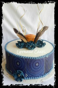 south african wedding cakes pictures sesotho hat and blanket traditional wedding cake 20294