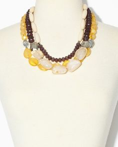 Sassy Glass Necklace & Earrings Set   Jewelry   charming charlie
