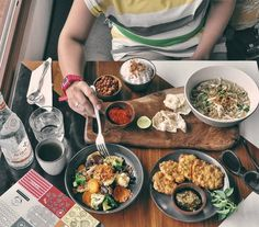 #Bali. What do you think of this lunch idea? It's delicious Indonesian food @UlekanBali made from selected ingredients; Cap Cay Jamur from fresh garden vegetables and mushroom and it taste not like Chinese style cap cay it have its own yummy taste from their recipe.  Next Sweet Perkedel Jagung just like what my mom use to make just dip it to the sambal hijau so appetizing.  Then a bowl of tasty warm Soto Ayam Madura. Inspired yet?