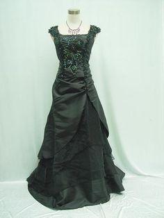 Cherlone Plus Size Satin Black Ball Gown Wedding/Evening Bridesmaid Dress 24-26   eBay