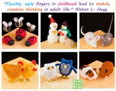 We LOVE these American made felting kits as a gift for an older child! $#madeinUSA
