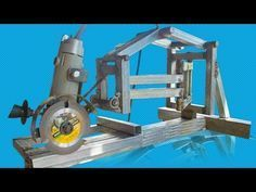 DIY Miter Saw With Angle Grinder - YouTube