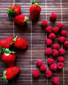 Not a day without #fruits #raspberry #strawberry