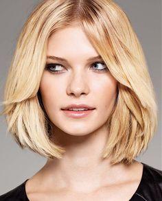 Medium Blonde straight coloured choppy womens haircut hairstyles for women