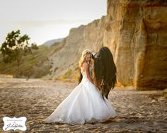 I love repurposing wedding dresses and what better way than with a gorgeous horse on a beach?