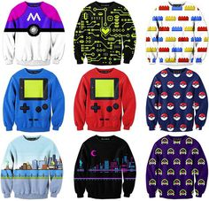 Geeky Pixel Art Sweatshirts by Drew Wise