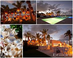 Reception, Grace Bay Club, Turks and Caicos Islands...and shells for guest to write notes to the B&G