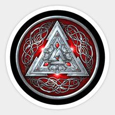 Red Norse Valknut