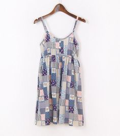 Mori Girl Dress O Neck Sleeveless Print Floral Sexy Beach Spaghetti Strap Dress