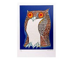 Gravura coruja aldemir martins - 35x50cm