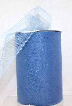 Tulle  One Roll of ANTIQUE BLUE Premium Nylon by CreationsbyLSM, $8.00