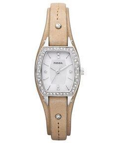 Fossil Watch, Women's Sand Leather Strap 24x22mm JR1333 Web ID: 617750