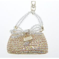 Bags Purses Gold Swarovski Crystal Handbag Keyring Bag Charm