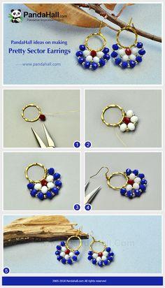 Diy jewelry earrings - Beebeecraft tutorials on making colorful tasselearrings – Diy jewelry earrings Bead Jewellery, Wire Jewelry, Jewelry Crafts, Beaded Jewelry, Jewelery, Beaded Bracelets, Amber Jewelry, Jewellery Making, Jewelry Drawer