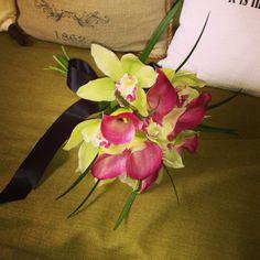 Callas and cymbidium orchids