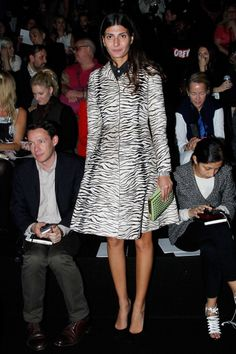Giovanna Battaglia. Zebra coat.