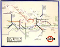 Harry Beck, London underground map, designed in 1931