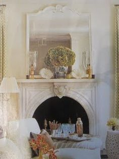 pretty marble fireplace